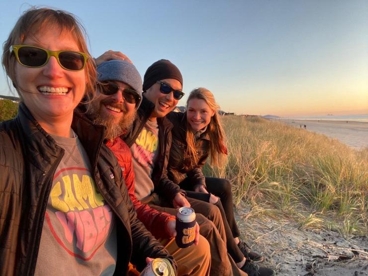 Friends at Rockaway Beach